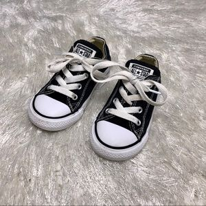 Converse Allstar Size 7 Toddler Black Low tops